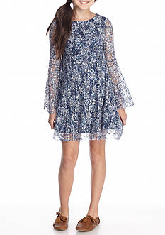 Jessica Simpson Zion Etched Floral Dress Girls 7-16