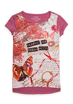 Jessica Simpson High Low Butterfly Dreams Top Girls 7-16