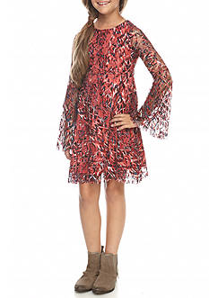 Jessica Simpson Zion Long Sleeve Peasant Dress Girls 7-16