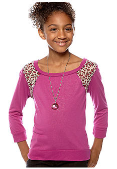 Jessica Simpson Animal Print Top Girls 4-6X