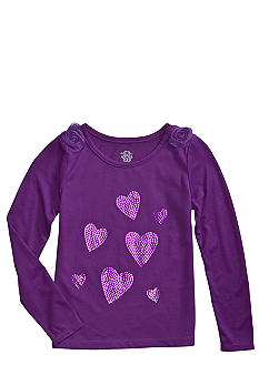 Jessica Simpson Sequin Rosette Top Girls 4-6X