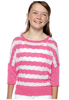 Jessica Simpson Stripe Hi Low Sweater Girls 7-16