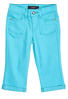 Jessica Simpson Color Cropped Twill Pant Girls 4-6x