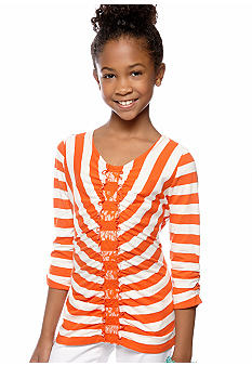 Jessica Simpson Praline Stripe Top Girls 7-16