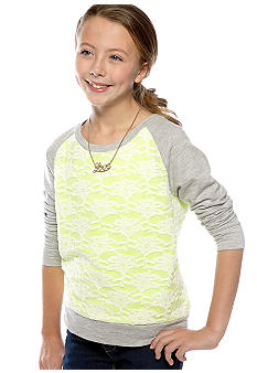Jessica Simpson Tissue Fleece Sweatshirt Girls 7-16