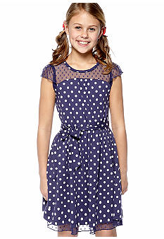 Jessica Simpson Lido Dot Dress Girls 7-16