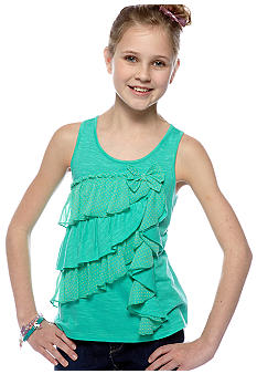 Jessica Simpson Milo Ruffle Top Girls 7-16