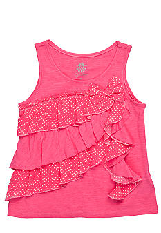 Jessica Simpson Milo Ruffle Top Girls 4-6x