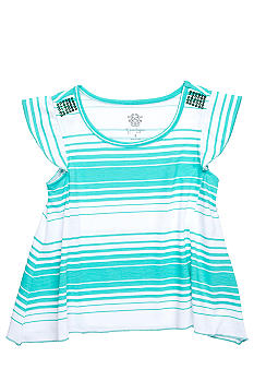 Jessica Simpson Boca Stripe Top Girls 4-6x