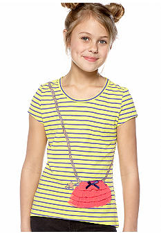 Jessica Simpson Flutter Purse Tee Girls 7-16