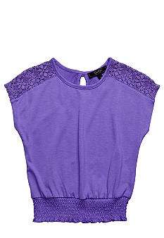 Jessica Simpson Smocking Jay Top Girls 4-6x