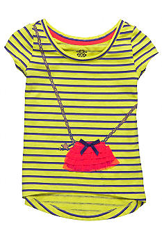 Jessica Simpson Flutter Purse Tee Girls 4-6x