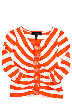 Jessica Simpson Praline Stripe Top Girls 4-6x