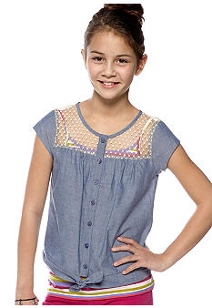 Jessica Simpson Saffron Denim Top Girls 7-16
