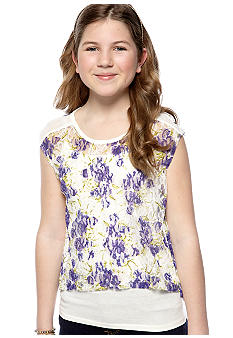 Jessica Simpson Prairie Floral Shirt Girls 7-16