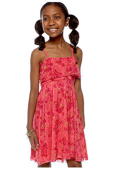 Jessica Simpson Floral Lace Ruffle Dress Girls 7-16