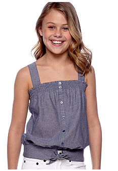 Jessica Simpson Chambray Tank Girls 7-16