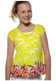 Jessica Simpson Four Bee Border Top Girls 7-16