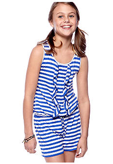 Jessica Simpson Striped Romper Girls 7-16