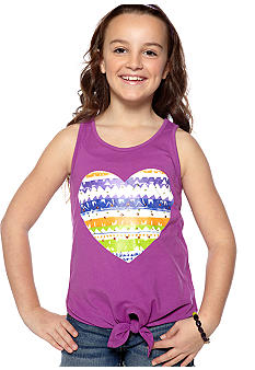 Jessica Simpson Tribal Heart Tie Top Girls 7-16