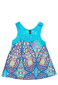 Jessica Simpson Tribal Crochet Tank Girls 4-6x