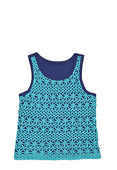 Jessica Simpson Crochet Tank Girls 4-6x