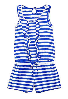 Jessica Simpson Elba Stripe Romper Girls 4-6x