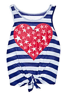 Jessica Simpson Striped Heart Tie Top Girls 4-6X