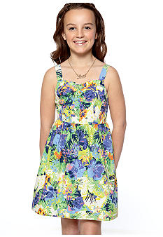 Jessica Simpson Aida Floral Dress Girls 7-16