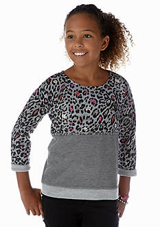 Jessica Simpson Nelly Leopard Sweatshirt Girls 7-16