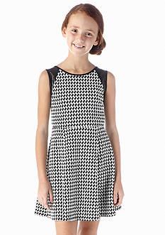 Jessica Simpson Mavis Houndstooth Print Dress Girls 7-16