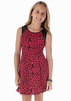 Jessica Simpson Mavis Rose Print Dress Girls 7-16