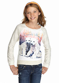 Jessica Simpson Thela Polar Bears Sweatshirt Girls 7-16