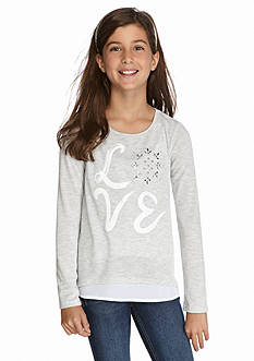 Jessica Simpson Cappa 'Love' Snowflake Top Girls 7-16