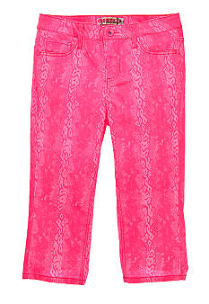 Squeeze Neon Snake Print Crop Girls Plus