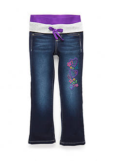 Squeeze Purple Knit Waistband Jeans