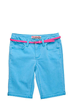 Squeeze Belted Bermuda Short Girls Plus