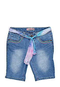 Squeeze Sash Belted Bermuda Short Girls Plus