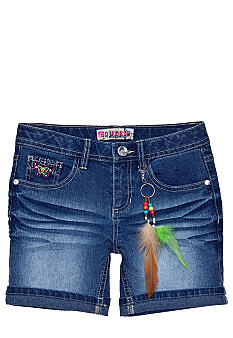 Squeeze Butterfly Pockets Denim Short Girls 7-16
