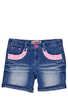 Squeeze Crochet Pocket Shorts Girls 7-16