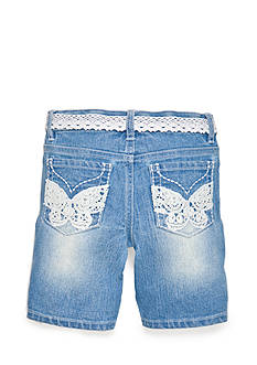 Squeeze Crochet Butterfly Bermuda Shorts Girls 4-6x