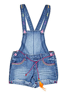 Squeeze Neon Denim Shortall Girls 7-16