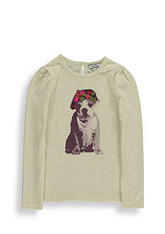 Hartstrings Puppy Print Long Sleeve Tee Girls 7-16