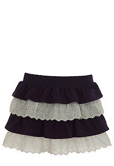Hartstrings Tiered Eyelet Skort Girls 4-6X