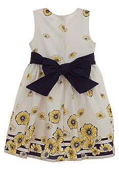 Hartstrings Daisy Border Dress Girls 4-6X