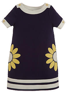 Hartstrings Flower Applique Dress Girls 7-16