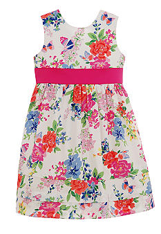 Hartstrings Floral Dress Girls 4-6X