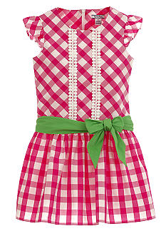 Hartstrings Gingham Dress Girls 4-6X