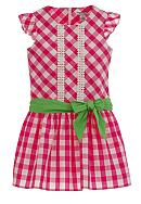Hartstrings Pink Check Dress Girls 7-16