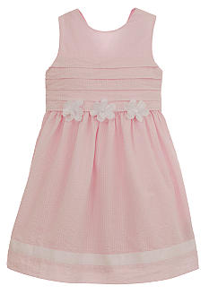 Hartstrings Pink Seersucker Dress Girls 7-16